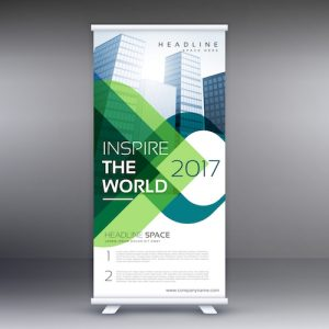 company roll up banner presentation